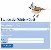 Meldung zur Stunde der Wintervögel